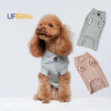 UFBemo Knitted Cable Dog Sweater Dachshund Cat Pull Chien Teckel Clothes Christmas Winter for chihuahua Small Large Dogs Warm