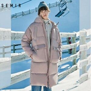 Image 3 - Mens Winter Down Jacket Business Long Thick Winter Coat Men Solid Fashion Outerwear Warm Long Coat Man