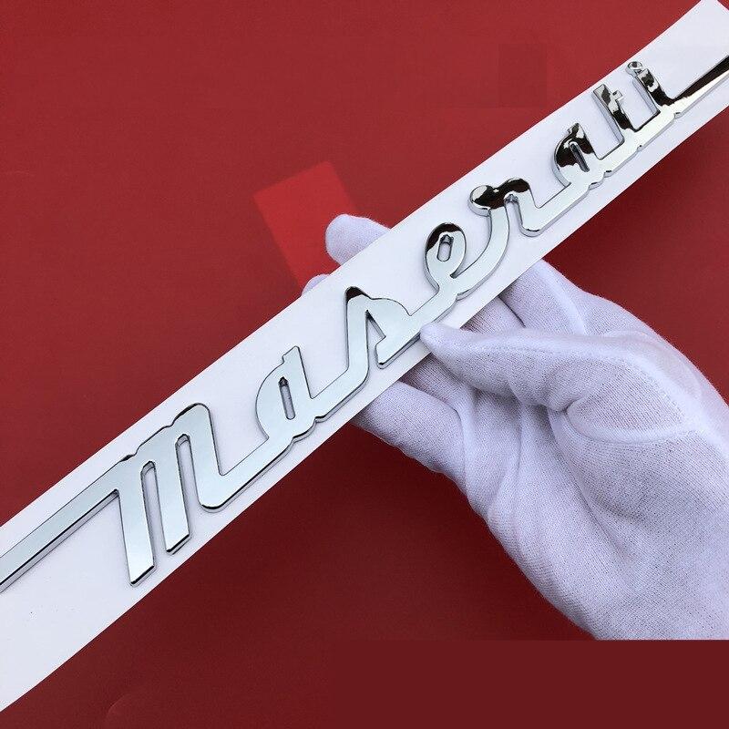 手書きマットグロスブラックレッドゴールドクロームマセラティトランク銘板ロゴエンブレムバッジジブリoemステッカーバッジ車