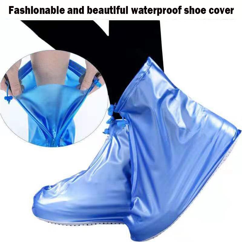 Alta qualidade homem e mulher à prova de poeira e à prova ddustágua sapato cobre alta para ajudar reutilizáveis não-deslizamento sapatos de viagem