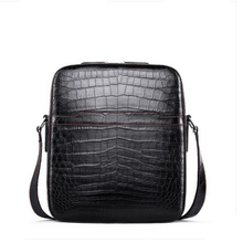 gete New style crocodile skin belly single shoulder bag mens leather fashionable cross-body hand-made