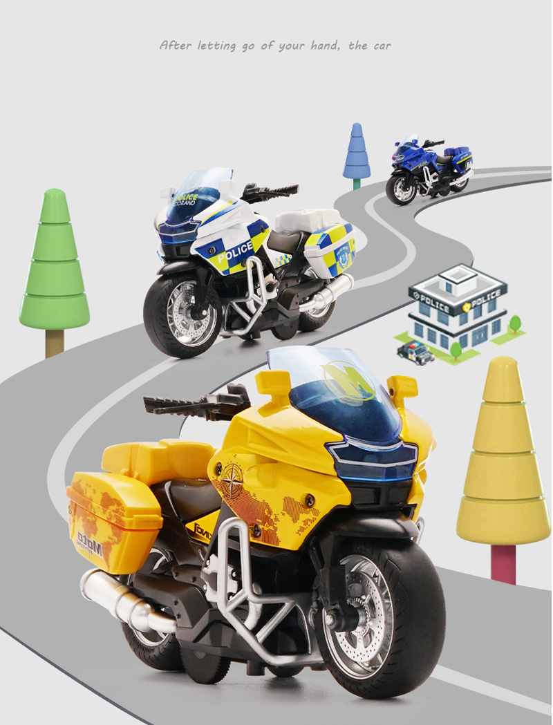 Motorcycle model Die-casting motorcycle with light and music  Toy car / Color Optional Toy gifts on Christmas Eve Ratio 1:14 6