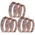 9 рулонов бонсай провода анодированный алюминиевый бонсай тренировочный провод с 3 размерами (1 0 мм  1 5 мм  2 0 мм)  всего 147 футов (коричневый)