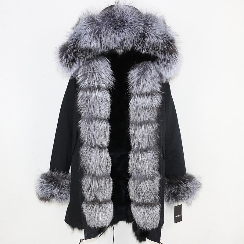 OFTBUY 2019 Winter Jacket Women Long Parka Real Fox Fur Coat Natural Raccoon Fur Collar Hood Thick Warm Streetwear Parkas New 3