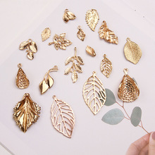10pcs Gold Color Hollow Leaf/Maple Leaf Charm Korean bridal headdress DIY leaves alloy accessories handmade hair accessories