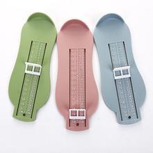 1PC 6 Colors Baby Foot Ruler Measuring Infant Plastic Ruler Kids Foot Length Child Shoes Calculator For Children Gauge Tools