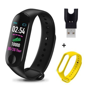 M3 Plus Smart Bracelet Heart Rate Blood Pressure Health Waterproof Smart Watch M3 Pro Bluetooth Watch Wristband Fitness Tracker 18