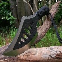 Non-Slip-Handle Life-Saving-Tool Jungle Tomahawk Machete Outdoor Camping-Bone Blade Stainless-Steel