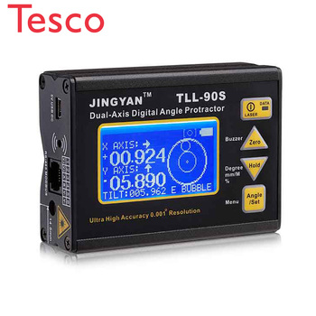2key digital inclinometer level box protractor angle finder gauge meter bevel level boxes illuminated lcd display High Precision Digital Laser Level Inclinometer Fine Angle Protractor Angle Meter 0.005 Professional Dual-axis with LCD Display