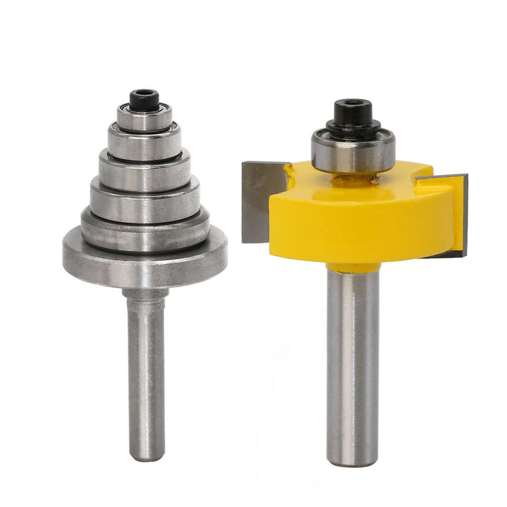 3pcs 8MM Shank Rabbet Router Bit With Bearings Set Woodworking Milling Cutter Tenon Cutter For Woodworking Tools