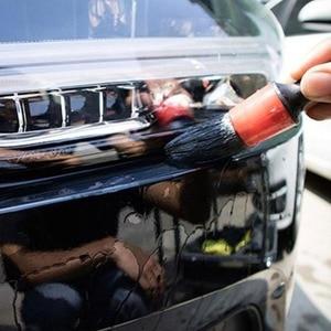 Image 4 - Brosse ronde en plastique pour les détails de la coiffure, pour le nettoyage des voitures, 5 jeux