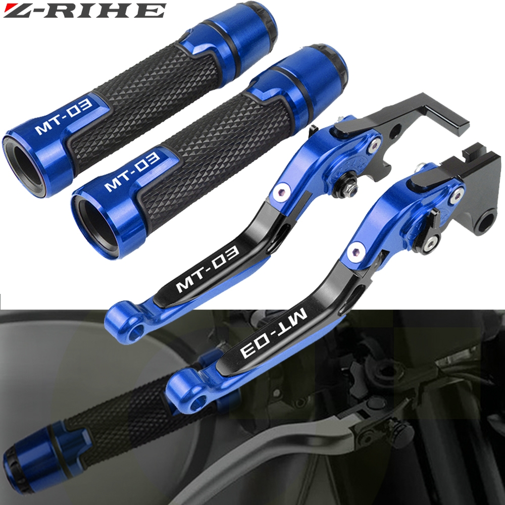 For YAMAHA MT-03 MT03 MT 03 2015 <font><b>2016</b></font> 2017 Motorcycle Adjustable Brake Clutch Levers Handlebar Hand Grips Handle bar Grip MT-03 image