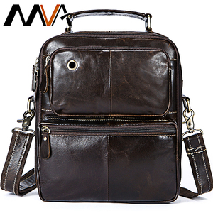 MVA Messenger Bag Men's Genuine Leather Crossbody Bags for Men Vintage Men's Bags Leather Man Handle-top Shoulder Handbags 8951