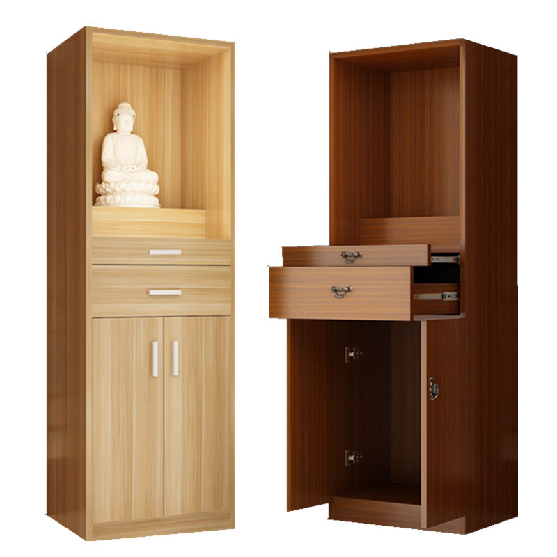 Shrines Closet With Door Solid Wood Altar Buddha Cabinet The God Of Wealth Guanyin Shrine Cabinet Worship Guan Gong Idol Cabinet