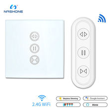 Nashone Tuya Smart Life EU WiFi interruptor de persiana enrollable para persiana motorizada eléctrica con Control remoto Google Home Aelxa(China)