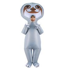Новый надувной гигантский Ленивец костюмы Blow Up Disfraz нарядное платье косплей Хэллоуин костюм для взрослых детей