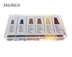 158 unids/caja conectores de alambre eléctrico variados conectores de tuerca de giro de alambre terminales Kit de rotación de tapa 5 colores