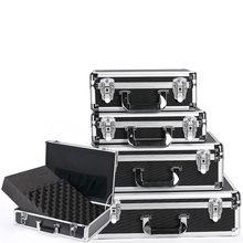 Aluminium Toolbox Shockproof Tool Case Draagbare Apparatuur Instrument Case Luchtvaart Case Bestand Outdoor Doos Met Schuim