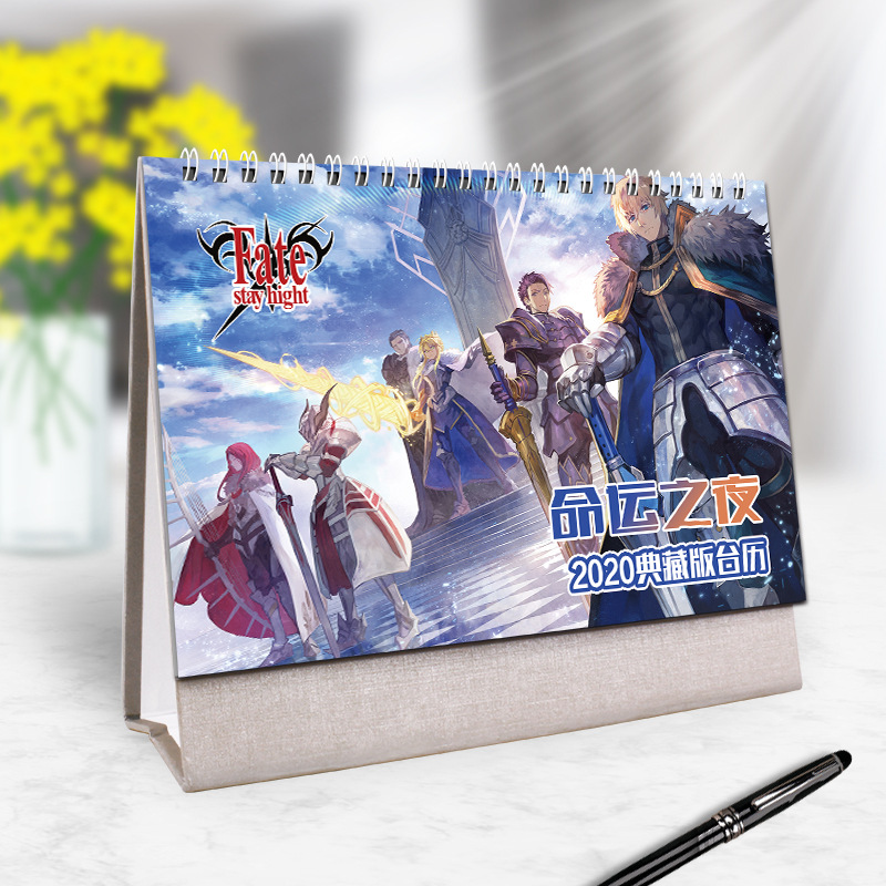 2020 Hot Japanese Anime Naruto JoJo's Bizarre Adventure Series Desk Calendar DIY Cartoon Characters Coil Calendars Daily