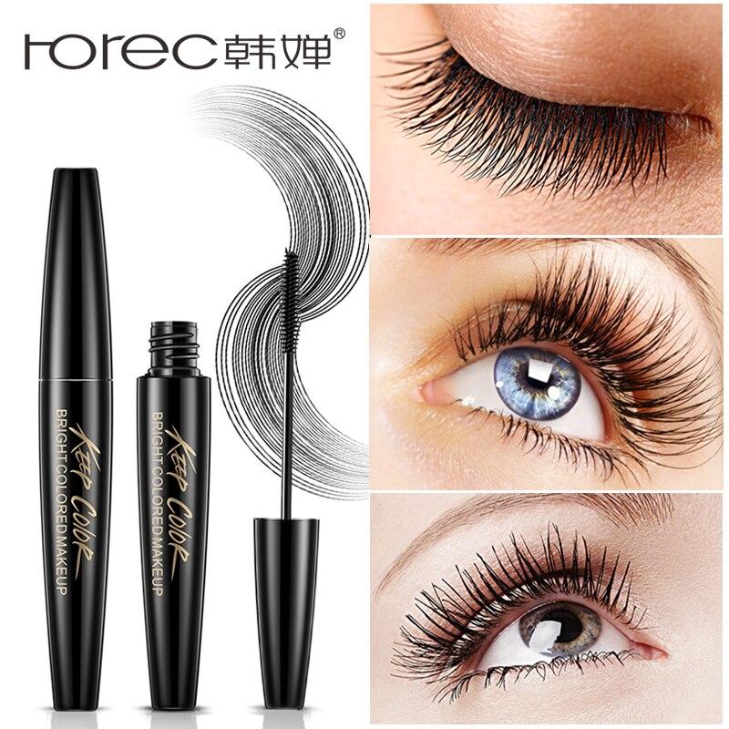 ROREC Voluminous Original Lashes Mascara Carbon Black Eyelashes Extension Waterproof Long Fiber Lengthening Eye Makeup Brush(China)