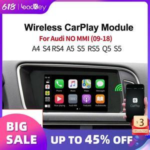 Image 1 - LoadKey אלחוטי Carplay מפענח עבור אאודי A4 A5 S5 Q5 ללא MMI 09 18 רכב מולטימדיה לרכב לשחק אפל Carplay/אנדרואיד אוטומטי Airplay