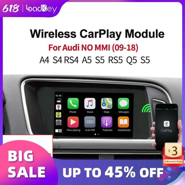 LoadKey אלחוטי Carplay מפענח עבור אאודי A4 A5 S5 Q5 ללא MMI 09 18 רכב מולטימדיה לרכב לשחק אפל Carplay/אנדרואיד אוטומטי Airplay