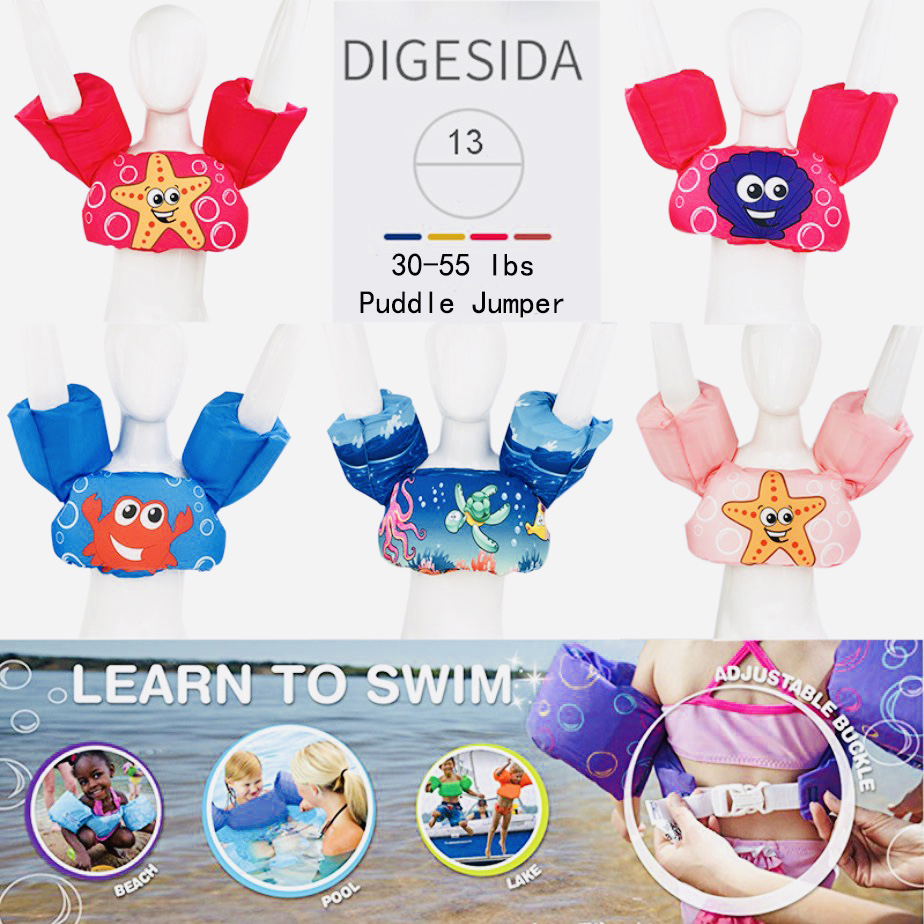 Baby Swim Rings Foam Cartoon Baby Arm Ring Buoyancy Vest Garment Of Floating Kids Safety Life Vest Children's Swim Life Jackets