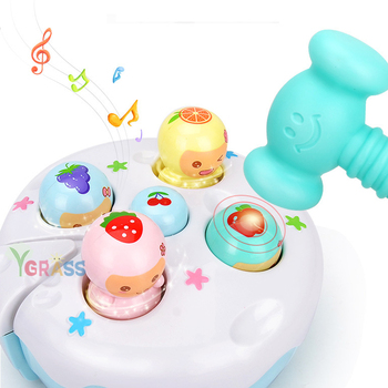 Baby Rattles Hammer Toy Electric Music Noise Maker Hand Hammering Games Children Early Learning Educational Game For 1 Year Old
