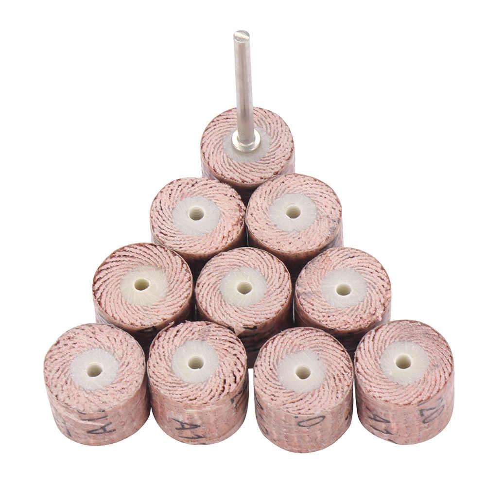 Grit Flap Wiel Schuurmachine Schuren Disc Vervanging Schurende Grinder Rotary Gereedschap 80 120 180 240 320 Dremel Mini Boren gereedschap