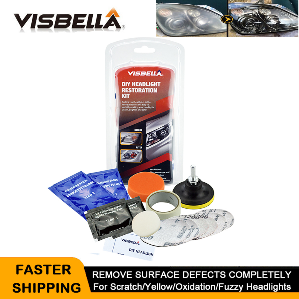 Restoration-Kit Headlight Headlamp-Lens-Repair Motorcycle Auto for Improving Visibility