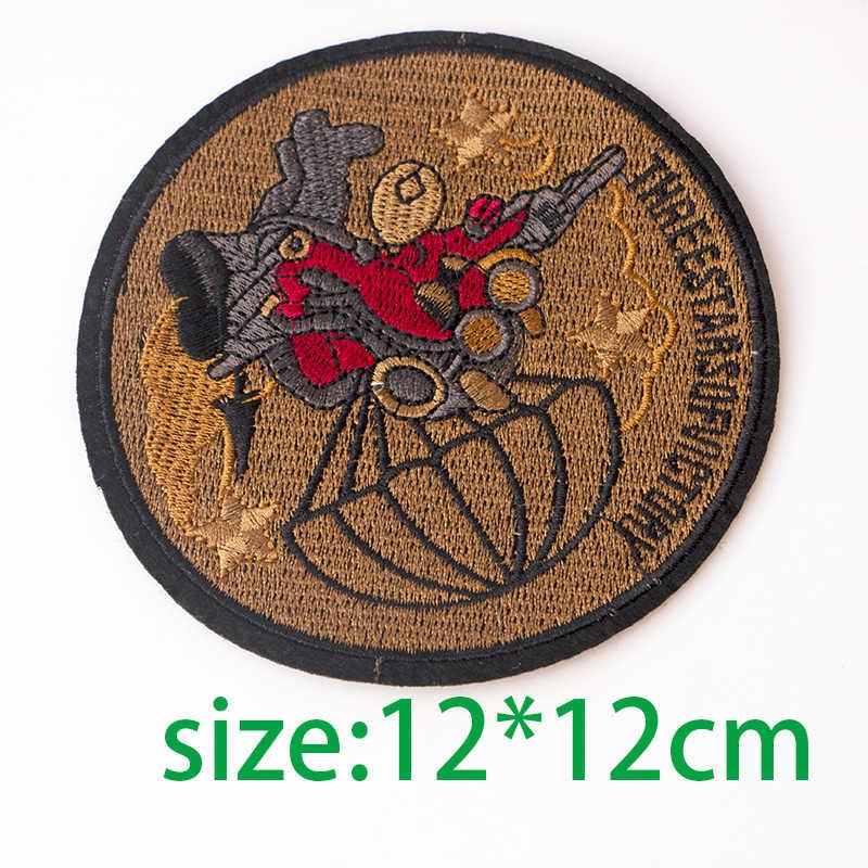 1 قطعة الكرتون الإبداعية نجوم الكرتون إلكتروني يزين الحديد الملابس أكياس الأحذية ديكور ثلاثية الأبعاد Bomb بها بنفسك قنبلة شارات بقع