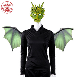 Image 5 - KOOY Adult Boy and Girl Kids Halloween Decoration Carnival Party Animal Costume Dragon Cosplay Masquerade Face Mask and Wing