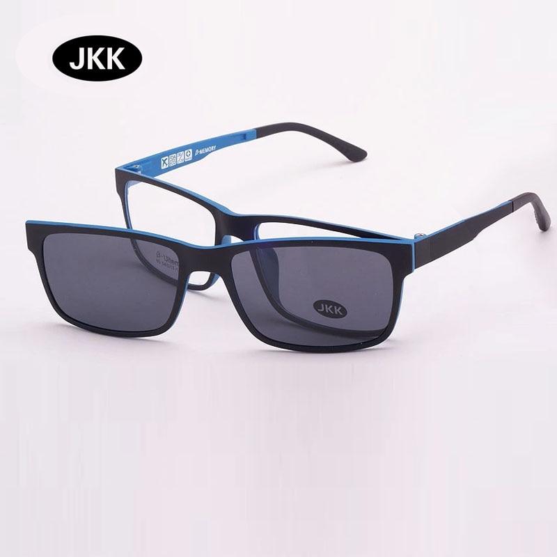 Ultraleichter Brillenrahmen aus Wolframtitan mit Magnetclip und Myopiebrille, polarisierende Sonnenbrille, 3D-Linse, Nachtsicht jkk80