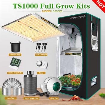 Mars Hydro TS 1000W Grow Kits Combo With Indoor Grow Tent Full Spectrum Best For Hydro Plant Veg Flower