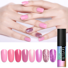 LILYCUTE 5ML Pink Nude Grey Series Soak Off UV Gel Polish Black White Long Lasting Pure Nail Color Varnish Manicure