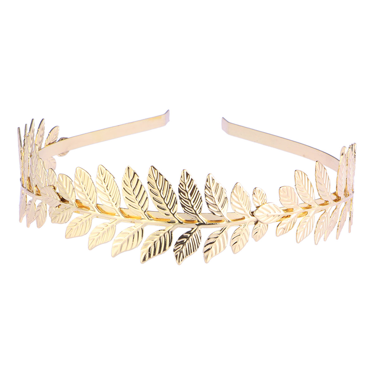 Golden Alice Band Roman Goddess Leaf Branch Dainty Bridal Hair Crown Head Dress Bohemia