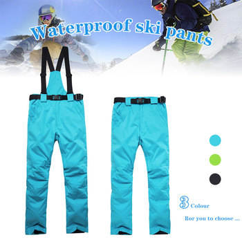 Ski Pants Men And Women Outdoor High Quality Windproof Waterproof Warm Snow Trousers Outdoor Winter Snowboard Ski Pants gsou snow brand ski pants women snowboard pants winter skiing snowboarding pants high quality female outdoor sport snow trousers