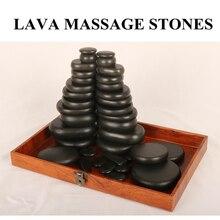 Sıcak taş masajı lava taşlar doğal enerji masaj Spa taşlar Set kaya bazalt toptan vücut sağlık