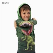 Spring Autumn Dinosaur Hoodies Kids Sweatshirts Boys Outerwe