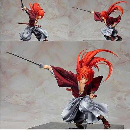 Anime Rurouni Kenshin Meiji Swordsman Romantic Story Kenshin Himura PVC Figure
