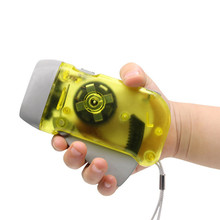1pc 3 LED Hand Pressing Dynamo Crank Power Wind Up Flashlight Torch Hand Press Crank Camping Lamp Emergency Light Random Color traditional hand crank dynamo solar powered rechargeable led camping emergency flashlight torch night cycling self defense