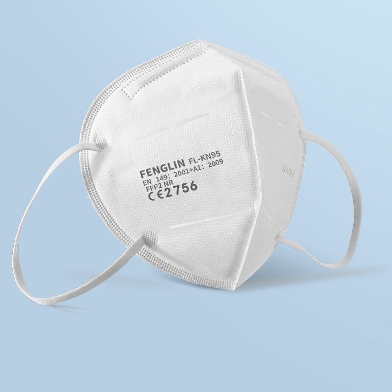 Masques faciaux avec filtre FFP2 KN95, anti-poussière, sécurité, non tissés à boucles auriculaires, jetable, protection anti-poussière KN95, livraison depuis l'espagne 3