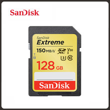 Sandisk Geheugenkaart Extreme 32Gb 64Gb 128Gb Sd-kaart C10 U3 V30 4K Video Camera 150 mb/s Sdhc/Sdxc UHS-I Flash Card