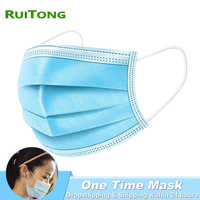 Dropshipping Disposable Masks Face Mouth Masks 3 Layer Non-woven One Time Masks