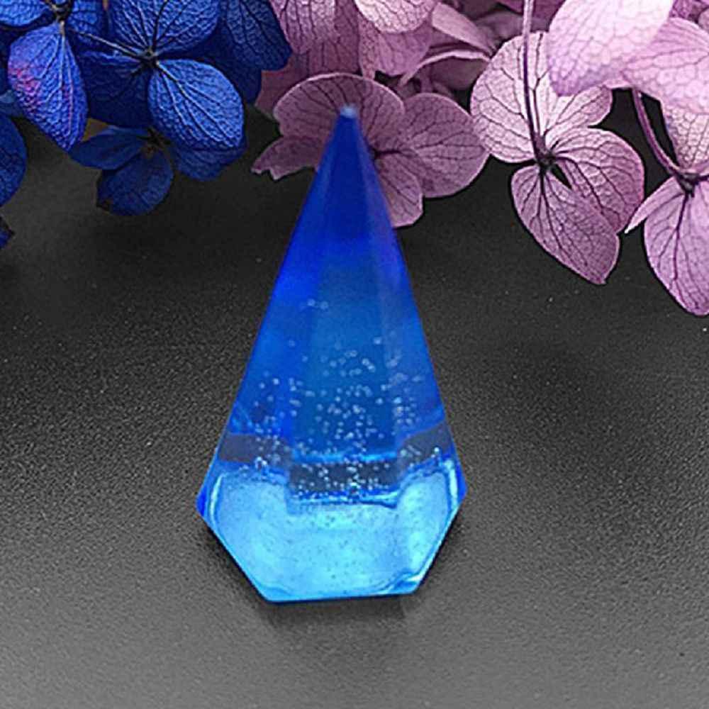 مخروط لتقوم بها بنفسك قالب من السيليكون الماس مخروط قلادة قالب ثلاثية الأبعاد ل دلاية من الراتنج مجوهرات الحرفية صنع أداة جديد وصول