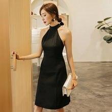 Yigelila осеннее Новое поступление черное платье с О образным