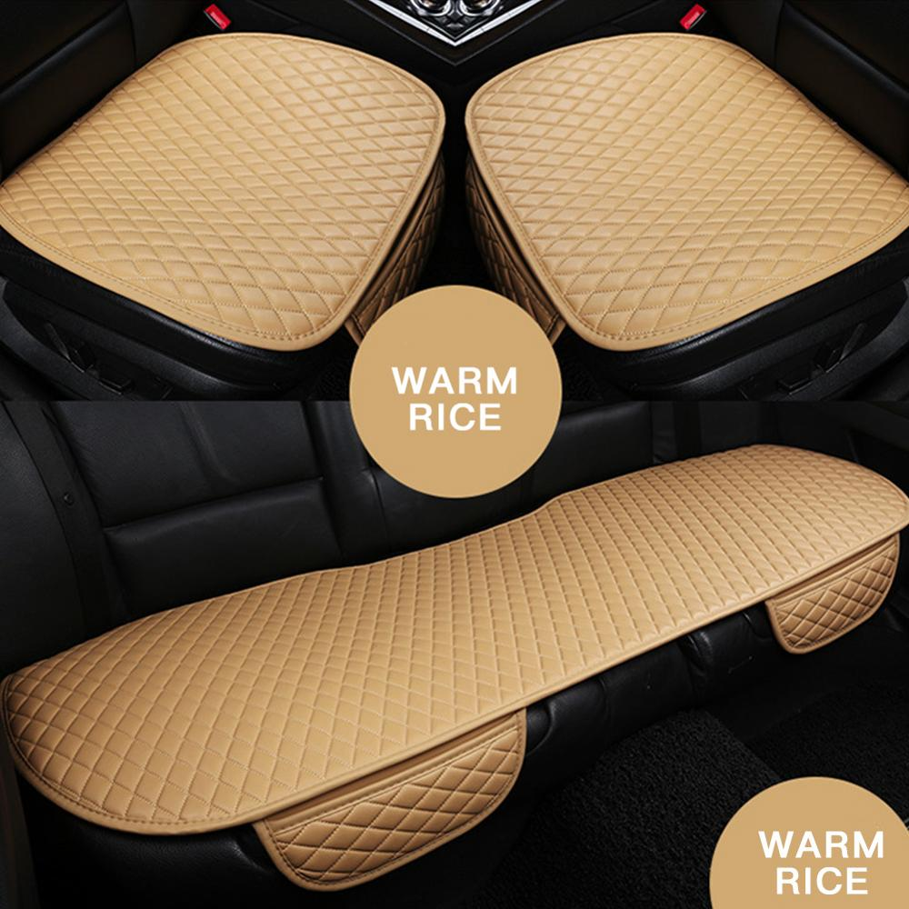 PU Leather Car Seat Cushion Front Seat Cover Car Cushion Universal Back Support Pad Interior Accessories Seat Cushion Pad