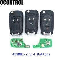 QCONTROL 2/3/4 Bottoni Auto Chiave A Distanza FAI DA TE per OPEL/VAUXHALL 433MHz per Astra J Corsa E insignia Zafira C 2009 2016