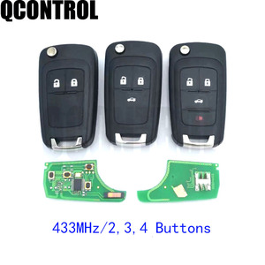 Image 1 - QCONTROL 2/3/4 Buttons Car Remote Key DIY for OPEL/VAUXHALL 433MHz for Astra J Corsa E Insignia Zafira C 2009 2016