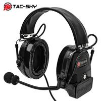 outdoor sports TAC-SKY COMTAC I silicone earmuffs outdoor hunting sports noise reduction pickups military tactical headphones BK+U94PTT (3)